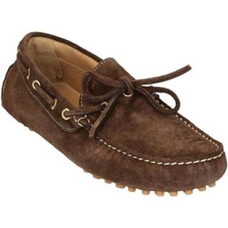 Mokasíny Leonardo Shoes  502 CAMOSCIO TESTA MORO PIOLI