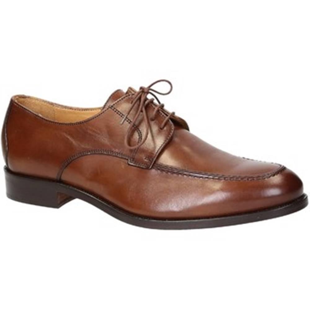 Leonardo Shoes Derbie Leonardo Shoes  05559/FORMA 40 NAIROBI CUOIO