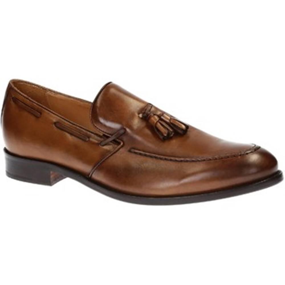Leonardo Shoes Mokasíny Leonardo Shoes  07013/FORMA 40 NAIROBI CUOIO