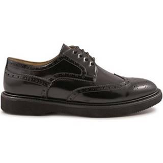 Derbie Leonardo Shoes  4762 SPAZZOLATO NERO KENT LUX