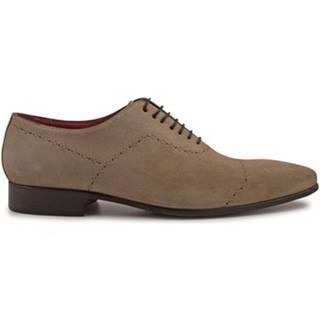 Richelieu Leonardo Shoes  4408 CAMOSCIO GORAIN CUOIO