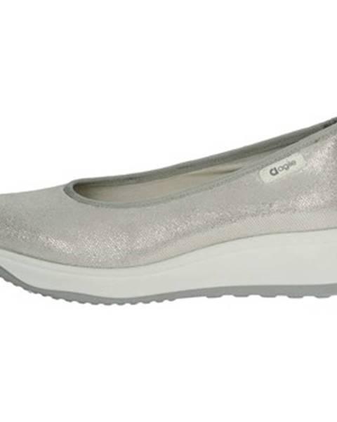 Strieborné topánky Agile By Ruco Line