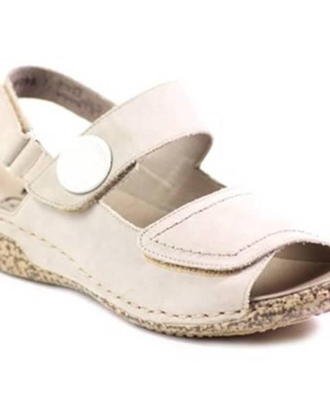 Béžové topánky Rieker