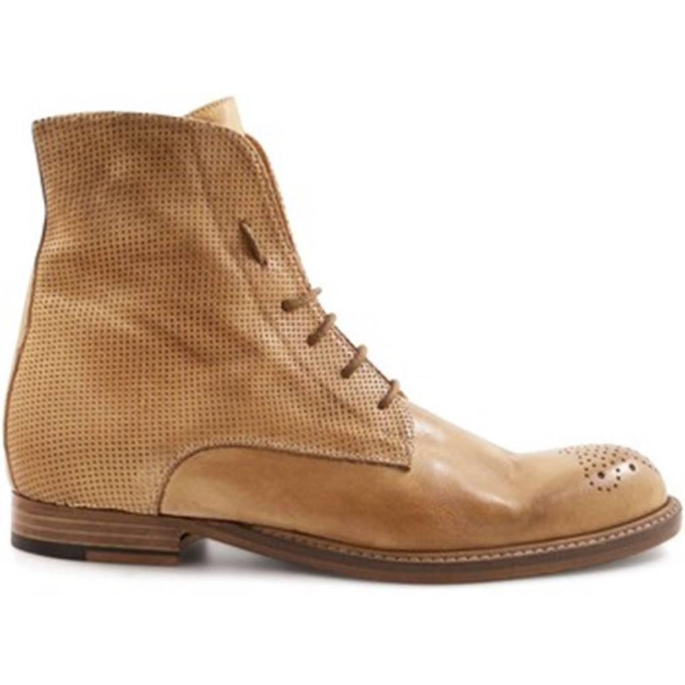 Leonardo Shoes Polokozačky Leonardo Shoes  2514/1 PAPUA MICROF.CUOIO