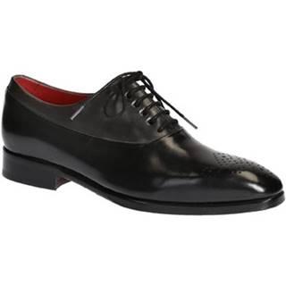 Derbie Leonardo Shoes  6460 VITELLO NERO