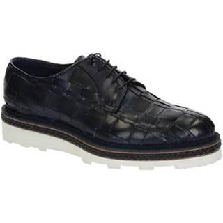 Derbie Leonardo Shoes  ROBY PE VITELLO BLUE 6083