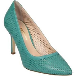 Lodičky Leonardo Shoes  54008 NAPPA ACQUAMARINA