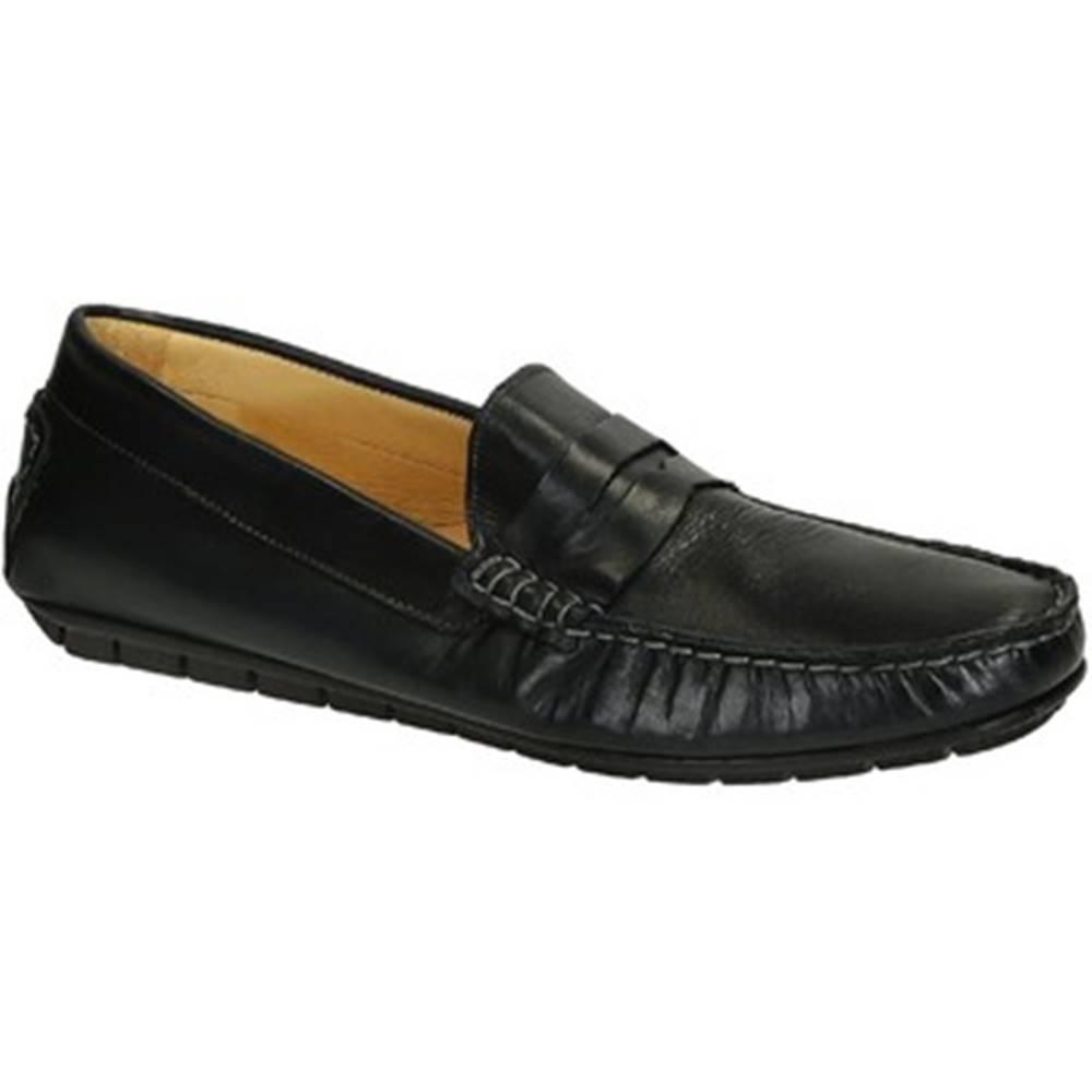 Leonardo Shoes Mokasíny Leonardo Shoes  503 VITELLO BLU FAUSTO