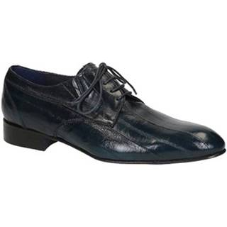 Derbie Leonardo Shoes  020-17 PE ANGUILLA BLU