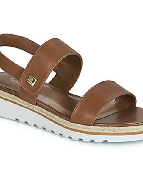 Hnedé topánky Lauren Ralph Lauren