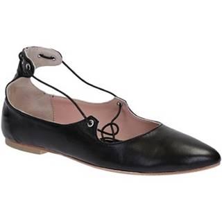 Balerínky/Babies Leonardo Shoes  117-30 CUOIO NAPPA NERO