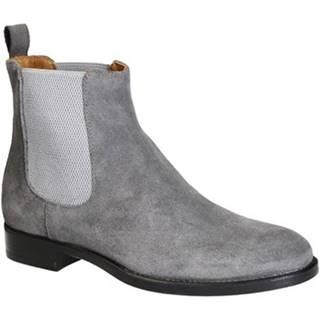 Polokozačky Leonardo Shoes  248-34 VELOUR GRIGIO