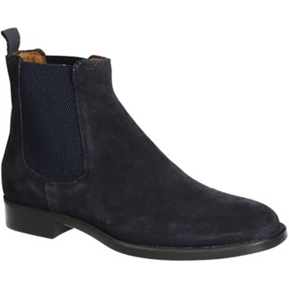 Leonardo Shoes Polokozačky Leonardo Shoes  248-34 VELOUR BLU