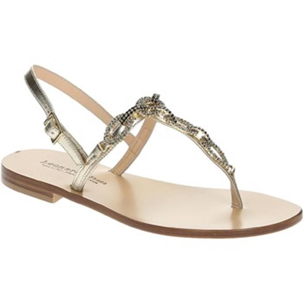 Leonardo Shoes Sandále Leonardo Shoes  18/17 PLATINO/NERO TC 10