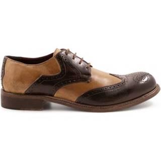 Derbie Leonardo Shoes  8402/7 PAPAU WENGHE-RIP.BEIGE