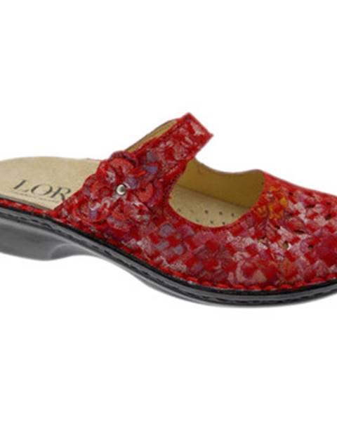 Červené topánky Calzaturificio Loren