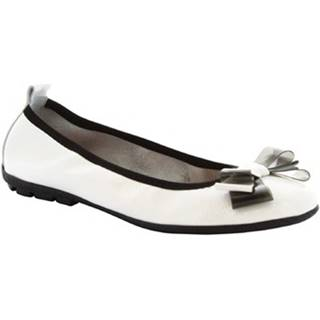 Balerínky/Babies Leonardo Shoes  5618 F1/SOSIA NAPLAK BIANCO