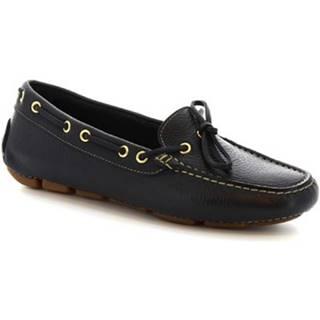 Mokasíny Leonardo Shoes  7502A MOUSSE BLU
