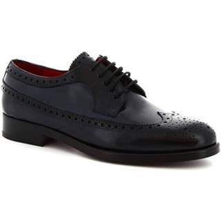 Derbie Leonardo Shoes  8116I18 TOM VITELLO DELAVé BLU