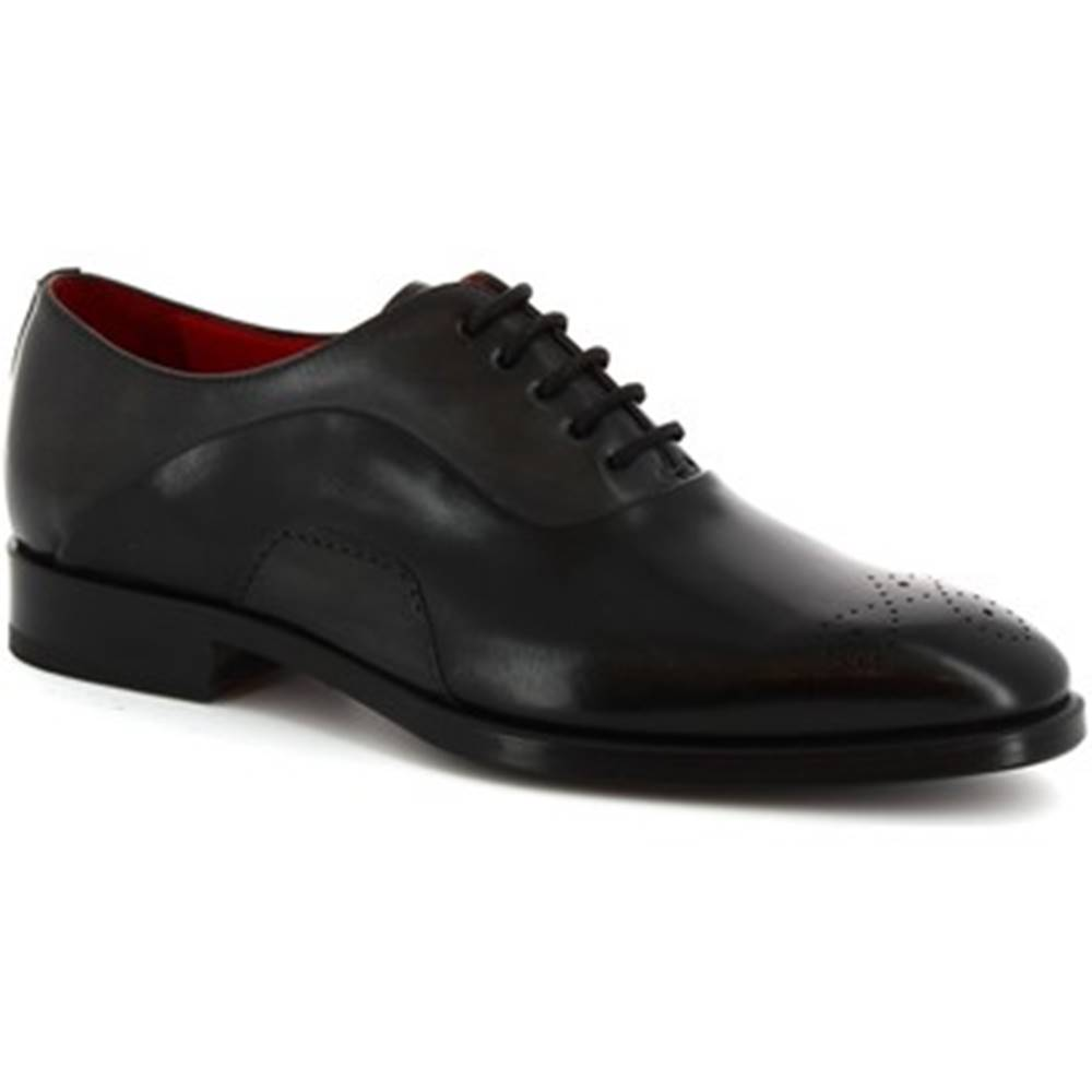 Leonardo Shoes Derbie Leonardo Shoes  8230I18 TOM VITELLO NERO