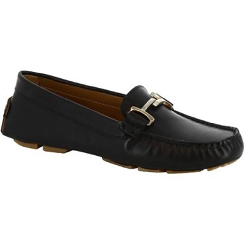 Leonardo Shoes Mokasíny Leonardo Shoes  227 VITELLO NERO