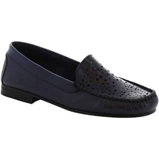 Balerínky/Babies Leonardo Shoes  5026 VITELLO BLUE