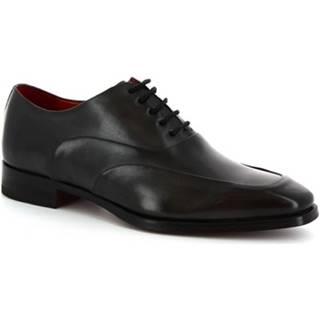 Derbie Leonardo Shoes  8741E19 VITELLO DELAV? GRIGIO