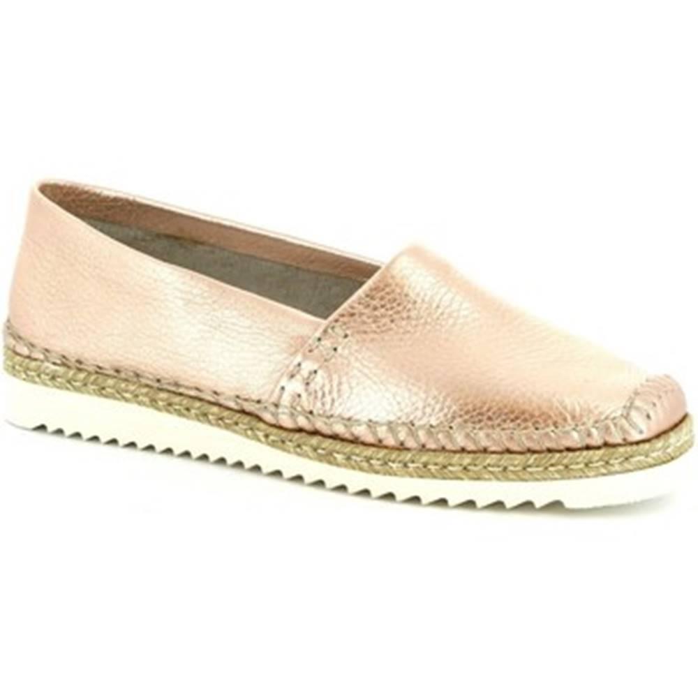 Leonardo Shoes Mokasíny Leonardo Shoes  010 PERLATO RAME