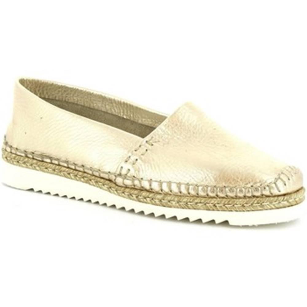 Leonardo Shoes Mokasíny Leonardo Shoes  010 PERLATO ORO