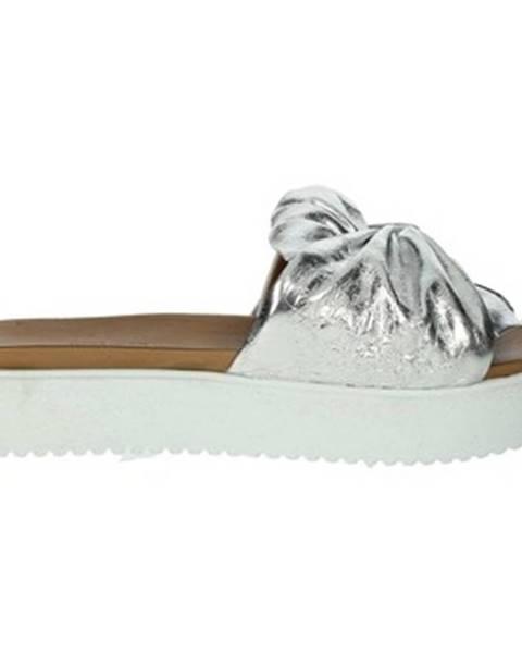Strieborné topánky Donna Style