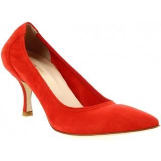 Lodičky Leonardo Shoes  SANDY CAMOSCIO ROSSO