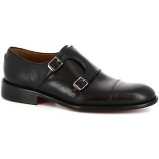 Mokasíny Leonardo Shoes  T112 SIVIGLIA NERO