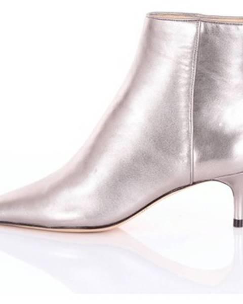 Strieborné topánky Alexandre Birman