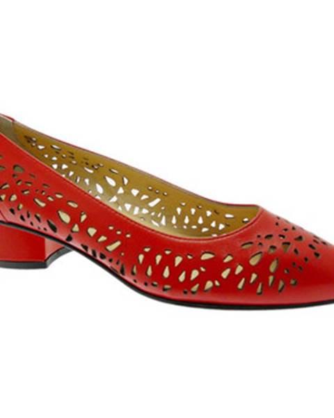 Červené topánky Donna Soft