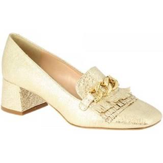Lodičky Leonardo Shoes  4502 FERRERO PLATINO