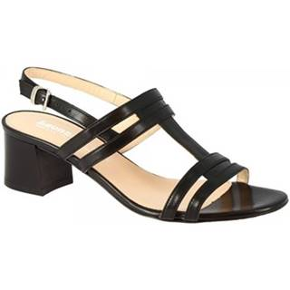Sandále Leonardo Shoes  5130 VITELLO NERO