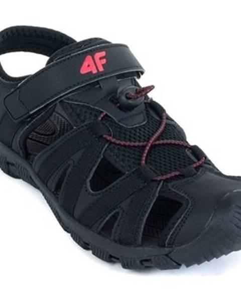 Čierne športové sandále 4F