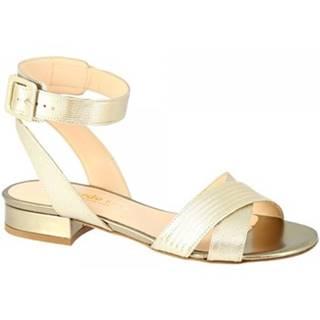 Sandále Leonardo Shoes  3115 FOCUS ORO