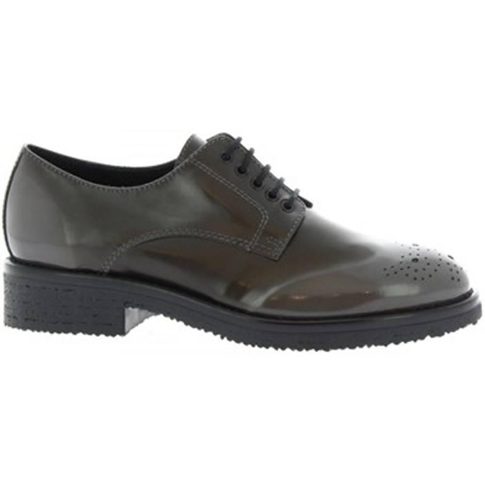 Leonardo Shoes Derbie Leonardo Shoes  6005/1 ABRASIVATO LAVA