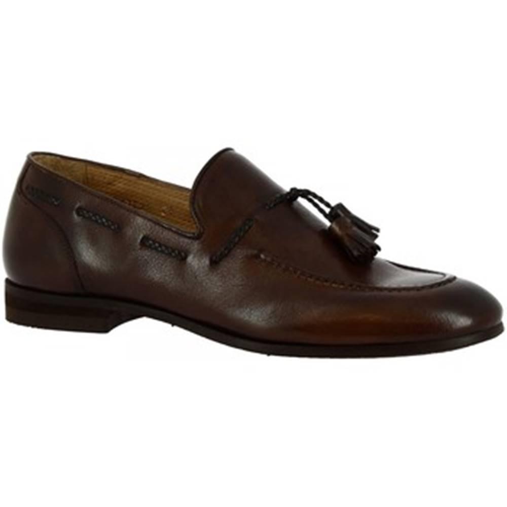 Leonardo Shoes Mokasíny Leonardo Shoes  8717E20 13543U SCARPINA CRUST MORO
