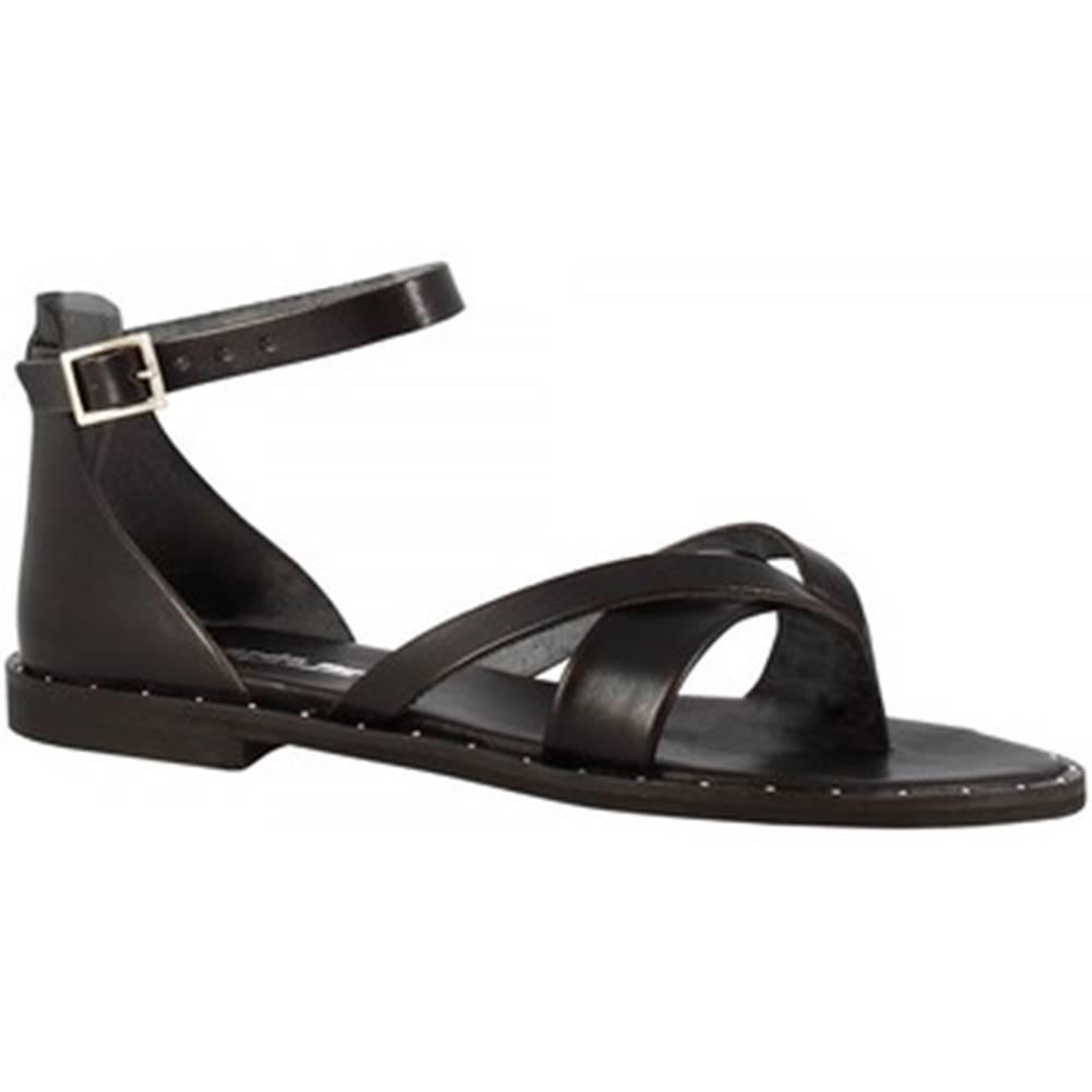 Leonardo Shoes Sandále Leonardo Shoes  303B VITELLO NERO