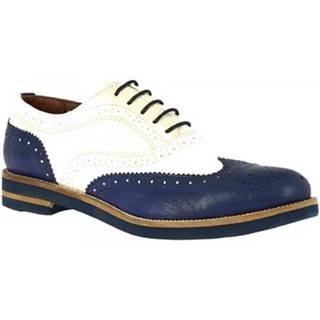 Derbie Leonardo Shoes  333-15 CAPRA BLU