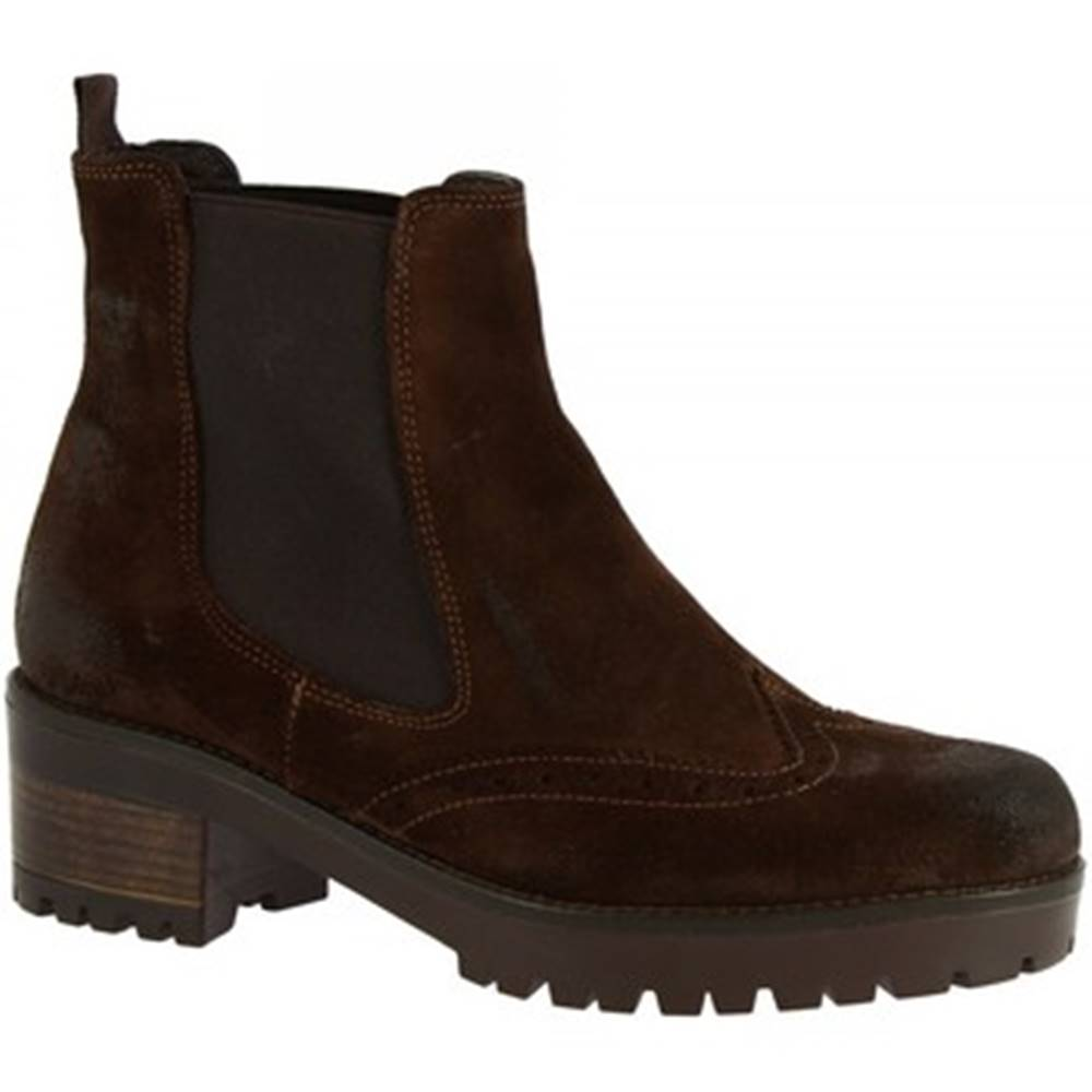 Leonardo Shoes Čižmičky Leonardo Shoes  032-16 CAMOSCIO T. MORO