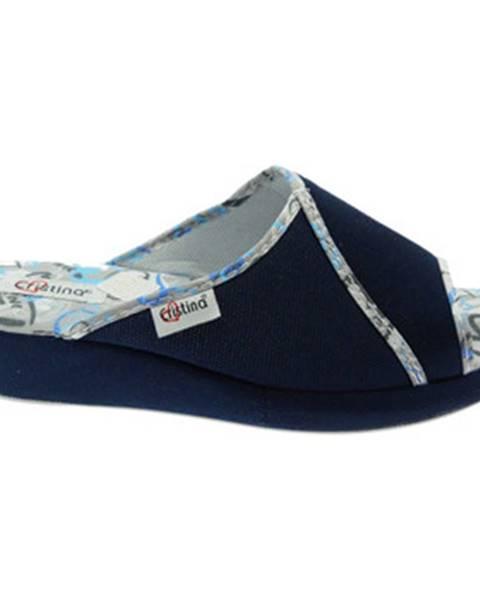 Modré papuče Cristina