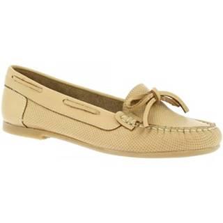 Mokasíny Leonardo Shoes  044 VITELLO CUOIO