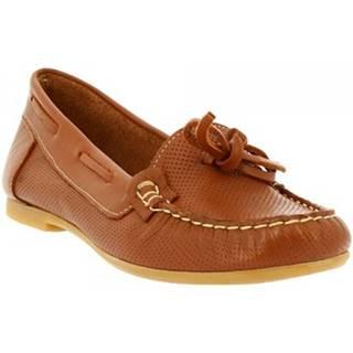Mokasíny Leonardo Shoes  044 VITELLO TAN
