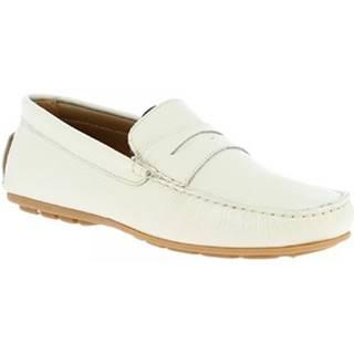 Mokasíny Leonardo Shoes  051 VITELLO ICEBERG