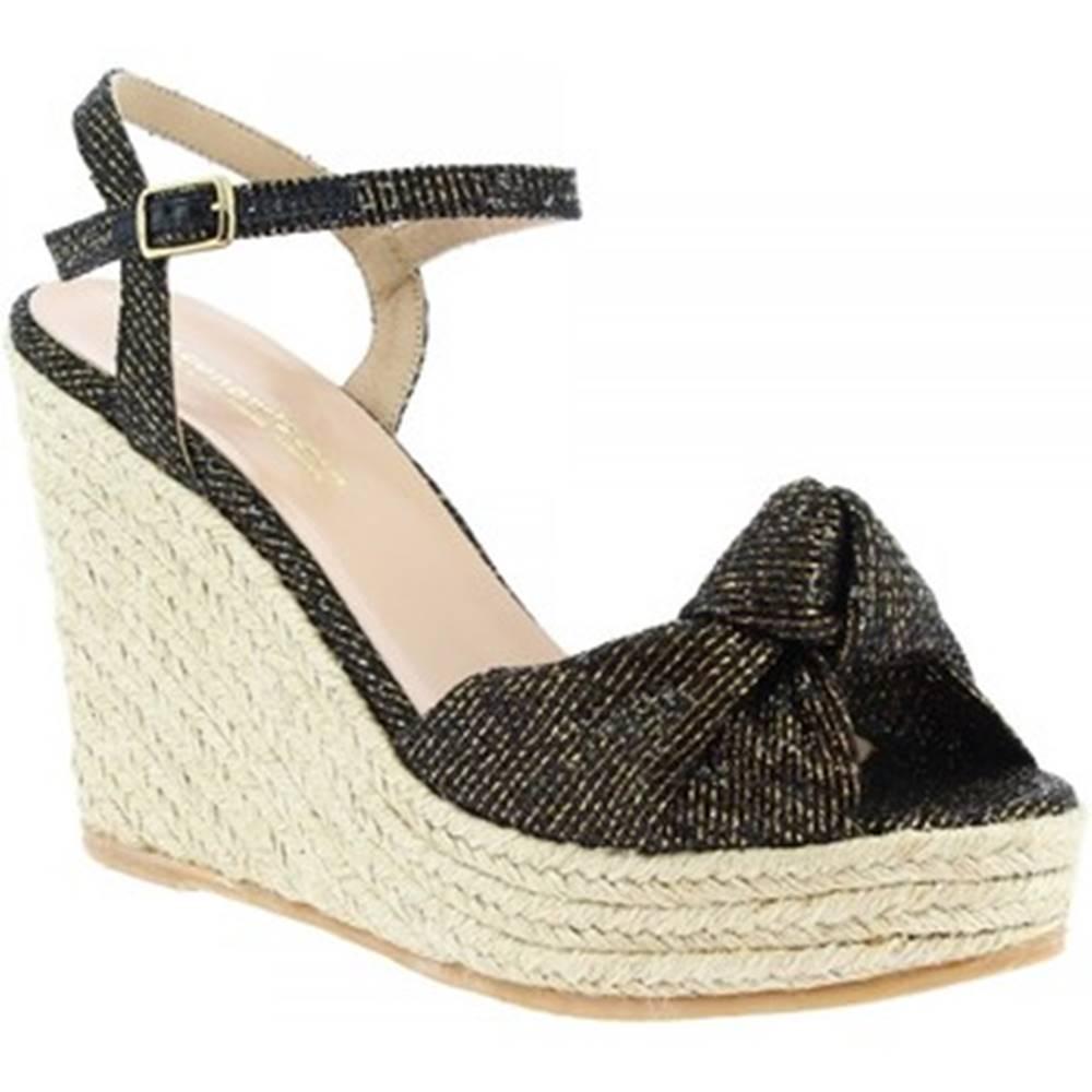 Leonardo Shoes Espadrilky Leonardo Shoes  SALOME LUREX BRONZO