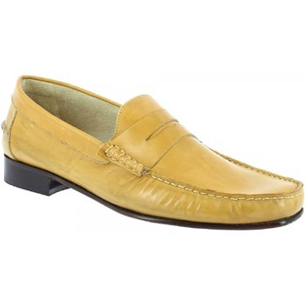 Leonardo Shoes Mokasíny Leonardo Shoes  2384 VITELLO GIALLO