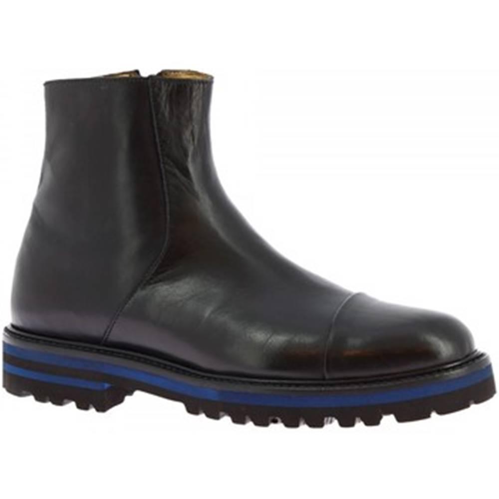Leonardo Shoes Čižmičky Leonardo Shoes  7403 VITELLO NERO